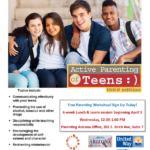 April 3 — CPLC Parenting Arizona presenting four-week Free Active Parenting of Teens workshop
