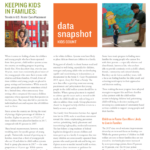 Children's Action Alliance shares new report — 'Keeping Kids in Families: Trends in U.S. Foster Care Placement'