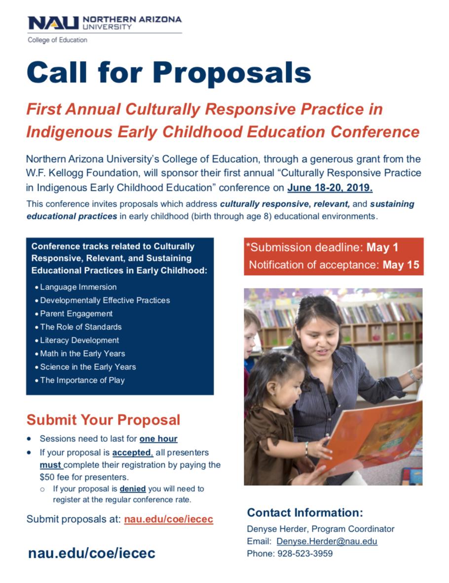 NAU seeking presenters (deadline is May 1) for conference