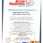 Active Parenting 6-week classes to begin May 21