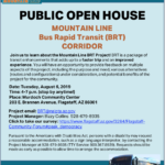 Mountain Line seeking feedback on second Bus Rapid Transit (BRT) route with Open House on Aug. 6, community survey
