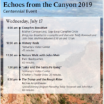 2019 Grand Canyon, Tusayan Regional Events