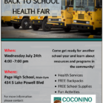 Connections Spotlight: Page Back to School Health Fair to be held July 24 at Page High School