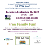 Connections Spotlight: CCC&Y's 9th Annual Flagstaff Early Childhood Fair to be held Sept. 28 at Flagstaff High School