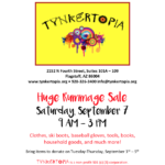 Tynkertopia announces August-September Classes, Rummage Sale on Sept. 7