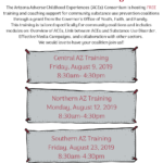 Trauma Informed Substance Use Prevention Training to be held Aug. 9, 12 (Flagstaff) and 23