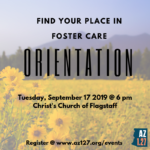 'Find Your Place in Foster Care Orientation' to be held Sept. 17 in Flagstaff