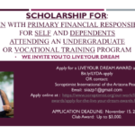Applications for 'Live Your Dream Scholarship Awards' due by Nov. 15