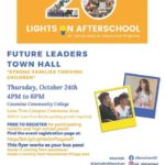 Education Spotlight: Lights On Afterschool Future Leaders Town Hall to be held Oct. 24 at CCC. See more local education news here