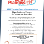 Nov. 20 and Dec. 4 — Free Active Parenting classes
