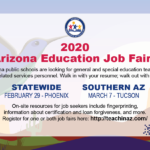 Feb. 29 and March 7 — 2020 Arizona Education Job Fairs to be held in Phoenix, Tucson