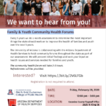 Feb. 28 — Family & Youth Community Health Forums to be held in Flagstaff, statewide