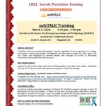 March 4 — safeTALK, Free suicide prevention training, to be held in Flagstaff