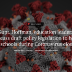 Arizona Legislative Education Spotlight: Supt. Hoffman, education leaders discuss draft policy legislation to help AZ schools during Coronavirus closure. See more education legislative news here