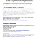 COVID-19 Grand Canyon Community Resources