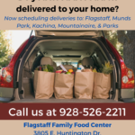 Bilingual update — Flagstaff Family Food Center now delivering to Flagstaff, Munds Park, Kachina, Mountainaire & Parks