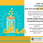 Bilingual update — Coconino County Health and Human Services launches Healthy Habits Emergency Saving Matching Program