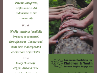 Join CCC&Y'S Family Connection Weekly Zoom Meeting on Thursdays