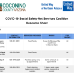 United Way of Northern Arizona, Coconino County develop COVID-19 Social Safety-Net Services Coalition Resource Guide