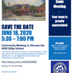 Community Zoom Meeting to Discuss New Killip School to be held June 18