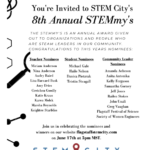 Local Education Spotlight: You're Invited to STEM City's 8th annual STEMmy's (June 17). See more local education news