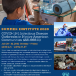COVID-19 & Infectons Disease Outbreaks in Native American Communities course to be held July 20-31
