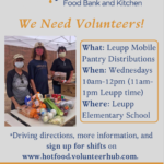 Flagstaff Family Food Center needs volunteers for Leupp Mobile Pantry Distributions on Wednesdays