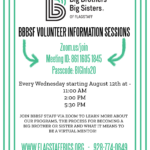 Big Brothers Big Sisters of Flagstaff to hold Volunteer Information Sessions on Zoom each Wednesday starting Aug. 12