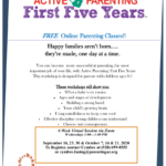 CPLC Parenting Arizona hosting special online Active Parenting Class ages 0 to 5 on Sept. 30, Oct. 7, 14, 21