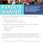 Family Involvement Center — Parents Wanted