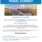 7th annual Tribal Summit to be held through Sept. 30