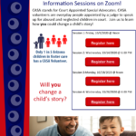 Become a CASA Volunteer Information Zoom Session to be held Oct. 28