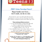 CPLC Parenting Arizona free six-week online Active Parenting of Teens Class on Dec. 2