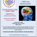 'Nutrition, Food, and Dementia — A FREE Virtual Educational Session' to be held Nov. 12