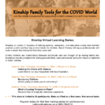 Kinship Family Tools for the COVID World — Virtual Learning Series to be held Dec. 17