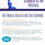 Stronger as One to present a Free one-hour Mental Health First Aid Training