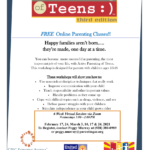Parenting Arizona to present 'Active Parenting of Teens' Free Online Parenting Classes on Feb. 24, March 3, 10, 17, 24