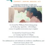 April 27 — CCC&Y to present 'Strengthening Families Protective Factors Framework' webinars